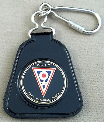Ohio Army National Guard Vintage Vinyl Keychain