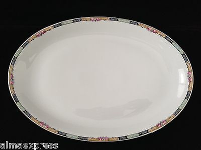 Gimbel Brothers KPM Bavaria Germany China 27044-4576 Roses & Gold OVAL PLATTER
