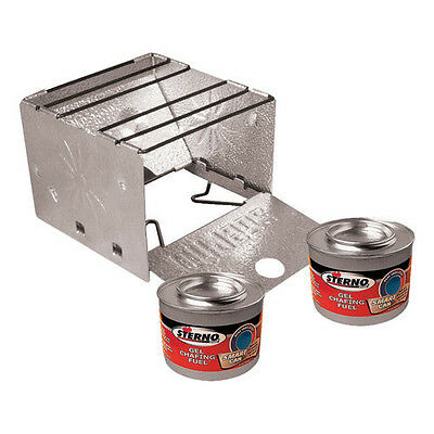 NEW Sterno Portable Folding Stove Lightweight Durable Aluminum Hiking Cooking