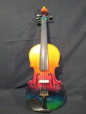Beautiful Colorful electric & acoustic 5strings violin 4/4 perfect sound 9668