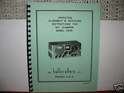 Hallicrafters S-20R Sky Champion Operating  & Service Manual