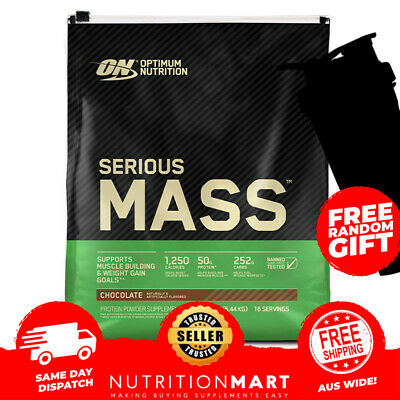 OPTIMUM NUTRITION SERIOUS MASS WHEY PROTEIN 12lb - 5.44kg - MASS GAIN - WEIGHT G