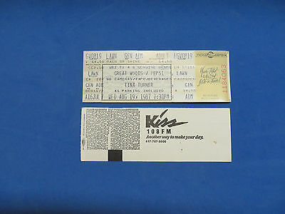 Tina Turner Unused Concert Ticket Great Woods 8-19/20-1987
