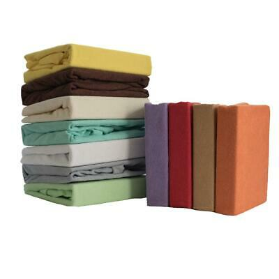Terry Towelling Fitted Sheet 90x40 Nursery Baby Crib / Basket/ Mattress Cover