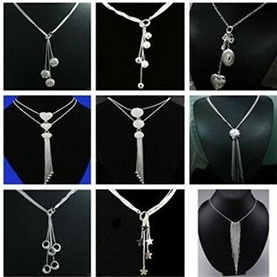 Wholesale Price Jewelry 925SOLID SILVER Chains Necklace Pendants Drops XMAS Gift