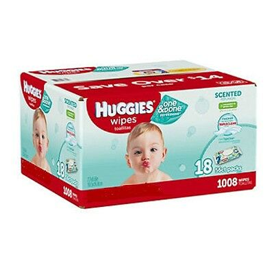 Huggies One & Done Baby Wipes 864 ct. Green Tea Scent Triple Clean Free Shipping