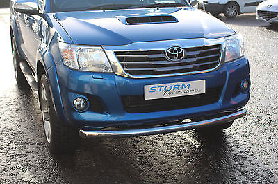 Toyota Hilux 2011-2015 Front Bar, Spoiler Bar, City Bar - Stainless Steel - 70mm