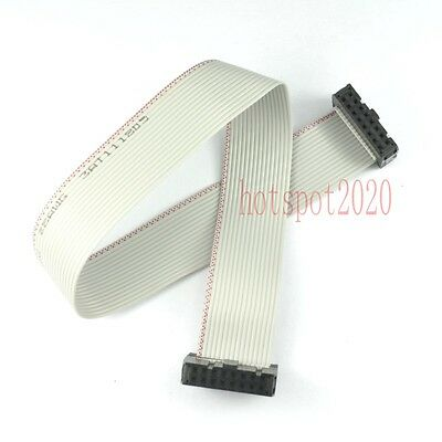 2pcs 2.54mm Pitch 2x8 16pin/wire IDC Flat Ribbon Cable JTAG AVR wire Length 30CM