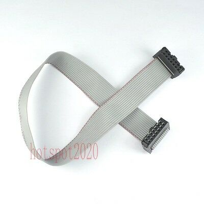 2pcs 2.54mm Pitch 2x7 14pin/wire IDC Flat Ribbon Cable JTAG AVR wire Length 30CM