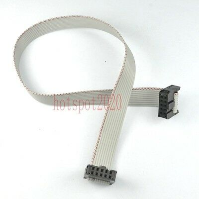 2pcs 2.54mm Pitch 2x5 10pin/wire IDC Flat Ribbon Cable JTAG AVR wire Length 30CM