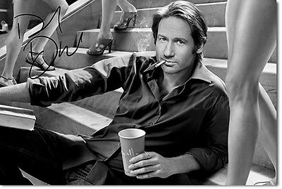 DAVID DUCHOVNY SIGNED PHOTO PRINT POSTER -  CALIFORNICATION - HIGHEST QUALITY