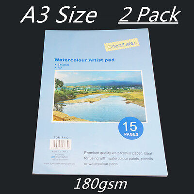 A3 Watercolour Paper Art/Artist Sketchbook/Sketch Pad  Journal For Drawing Paint