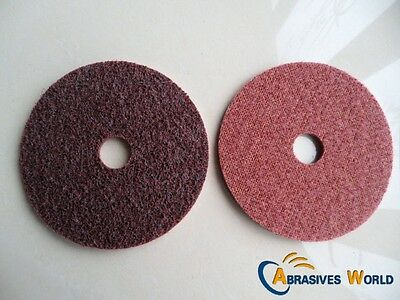 4PCS 125mm Non Woven Scotch Brite Sanding Polishing Discs For Angle Grinder