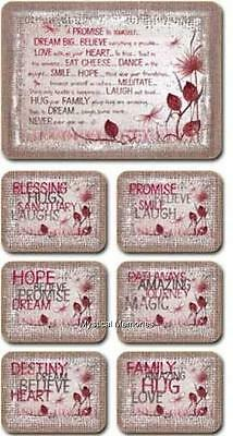 Heart Love Inspirations Red Dragonfly Placemats and Coasters x 6 by Lisa Pollock