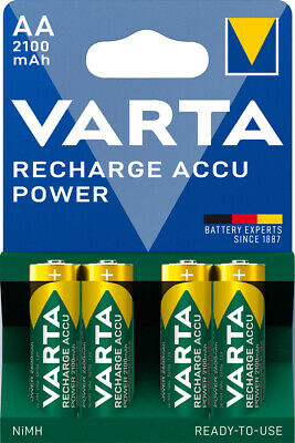 4 x Varta Recharge Accu AA Mignon ready to use R6 Akku 2100mAh 56706 NiMH Stilo