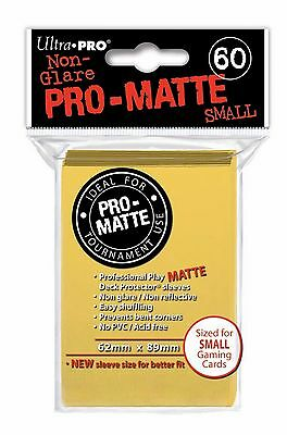 60 Bustine Protettive Ultra PRO Yu-Gi-Oh! PRO MATTE SMALL Yellow Giallo Buste