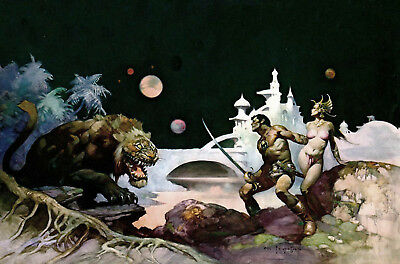 Authentic Frank Frazetta Print THUVIA, MAID OF MARS  #56  23 X 16""