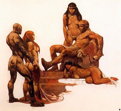 "Authentic Frank Frazetta Print ""ROUGE ROMAN""  20 X 16 #80"