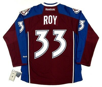 new style 07a62 26646 PATRICK ROY COLORADO Avalanche Reebok Premier Home Jersey New With Tags