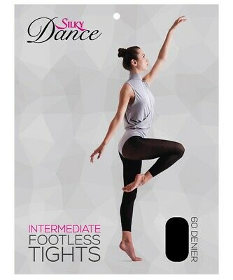 Silky Girls Childrens Dance Footless Tights