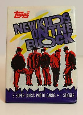 Vintage New Kids on the Block 1989 Wax Pack of trading cards UNOPENED!!