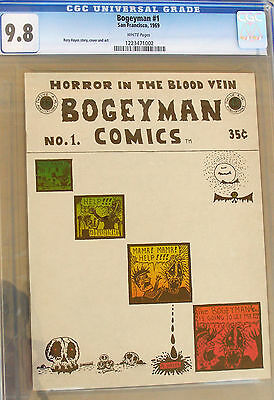 BOGEY MAN COMICS #1 CGC 9.8, 1969.  Rory Hayes.  White pages, highest graded