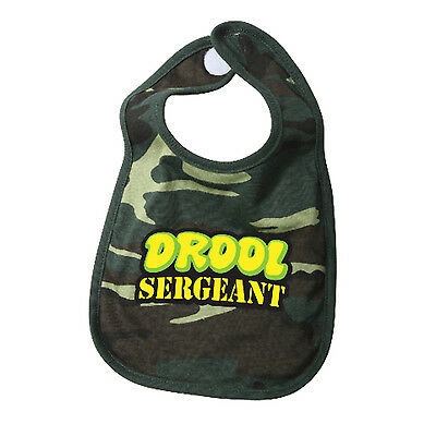 Infant Baby Drool Sergeant Woodland US Military Marine Corps USMC Army Camo Bib