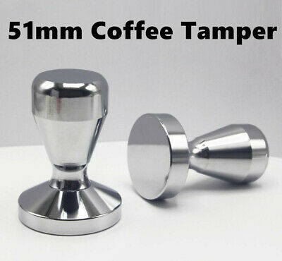 Coffee Tamper 51mm Stainless Steel Polished Tampa Espresso Press Barista Tampers