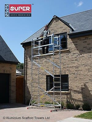 Super DIY 5.2M (3 in ONE) - Aluminium Scaffold Tower, 1m Frames, One Man Tower