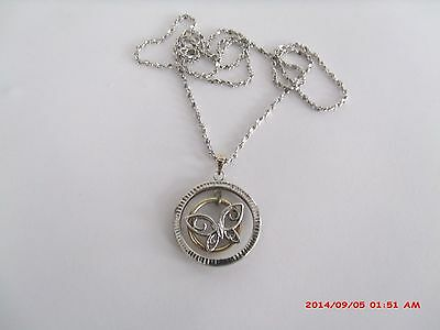 """Oroamerica Sterling Silver & 10K Yellow Gold Butterfly Pendant On 18"""" Chain"""