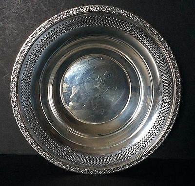 """Reed & Barton Silverplate 10"""" Round Vegetable Bowl #1702 Post 1940"""