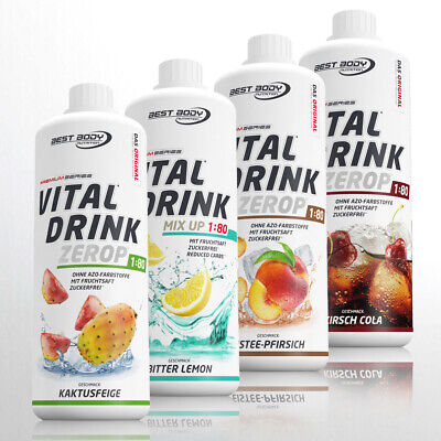 9,74€/Ltr. Best Body Nutrition Low Carb Vital Drink 4 x 1 Ltr. Getränkesirup