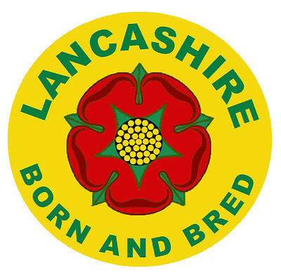 Lancashire Born And Bred -  Novelty Round Souvenir  Fridge Magnet - New / Gifts