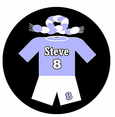 70s FOOTBALL SHIRT - PERSONALISED FUN FRIDGE MAGNET - ANY NAME & NUMBER - NEW