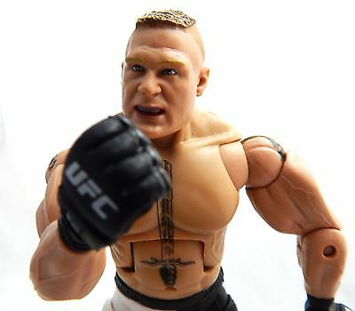 UFC brock lesnar Deluxe Ultimate Fighting Jakks Pacific 8in Wrestling Whitout Pa