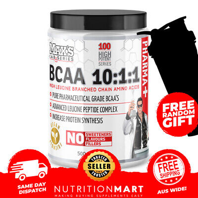 MAX'S LAB SERIES BCAA'S 10:1:1 500g - BRANCHED CHAIN AMINO ACIDS - BCAA