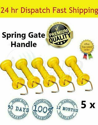 5 x Electric Fence Farm Gate Handles - Gate Break Handles with Spring
