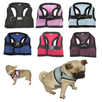 Dog Mesh Harness Light Comfortable XXS - M - Small Toy  Puppy Chihuahua Teacup