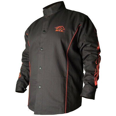 Revco Black Stallion Stryker FR Flame Resistant Cotton Welding Jacket Size Large