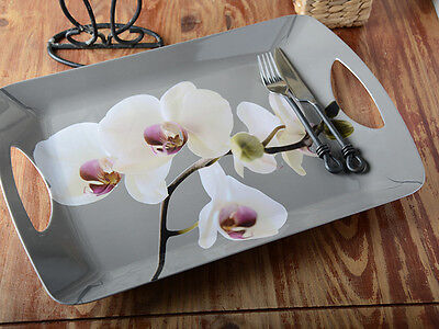 ORCHID HARMONY Large Luxury MELAMINE SERVING TRAY By Creative Tops