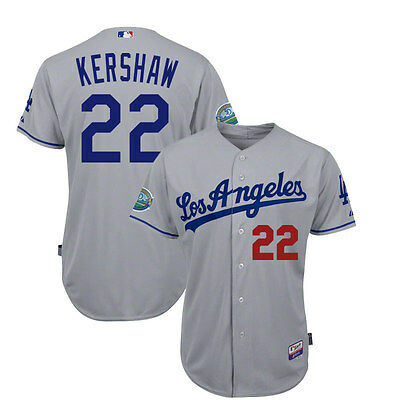 2012 Clayton Kershaw Los Angeles Dodgers Authentic Cool Base 50th Road Jersey