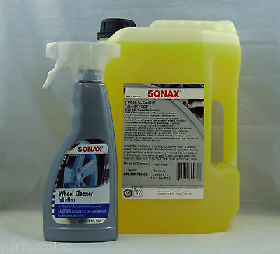 Sonax Full Effect Wheel Cleaner 5 Liter And 16.9Oz Spray Alloy Chrome Painted