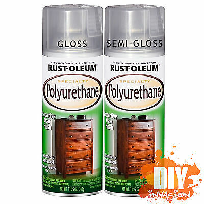 Rust-Oleum Polyurethane Protective Clear Spray Paint Wood Timber Furniture Metal