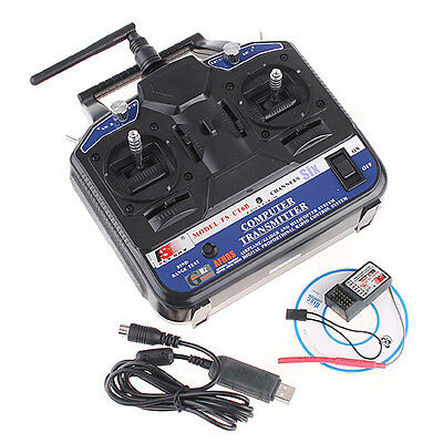 FS-CT6B 2.4GHz 6CH Transmitter and Receiver for RC Helicopter Multicopter Hot