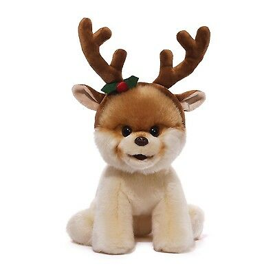 Gund 4043147 The Worlds Cutest Dog Itty Bitty Boo With Reindeer Antlers Christma