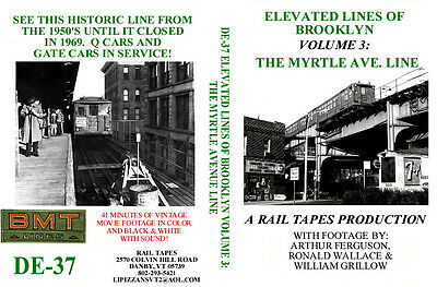 DVD: Elevated Lines of Brooklyn (NY) Myrtle Ave Line Subway EL Q Cars New York