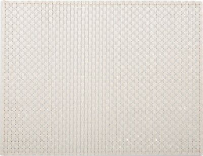 EVERYDAY HOME Cream WOVEN VINYL PLACEMAT Table Mat BY CREATIVE TOPS