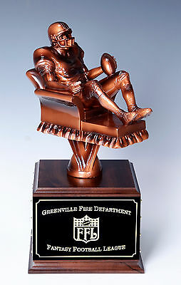 Fantasy Football Perpetual Trophy   NEW GIANT SIZE Arm Chair Quarterback