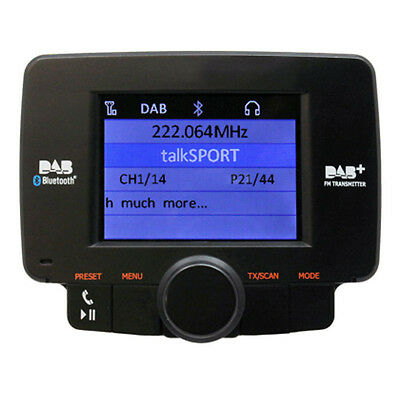 AutoDAB GO Plug n Play In-car Car DAB Radio Receiver with Handsfree Bluetooth