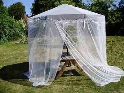 Large Garden Parasol Mosquito Net Fits up to 9FT Parasol Full Coverage